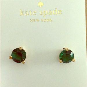 Kate spade green gumdrop earrings
